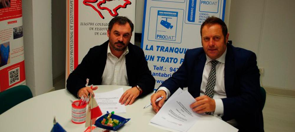 Firmado convenio de colaboración con el ILUSTRE COLEGIO PROFESIONAL DE FISIOTERAPEUTAS DE CANTABRIA