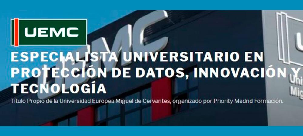 Prodat participa en el curso Especialista Universitario en Protección de Datos, Innovación y Tecnología.